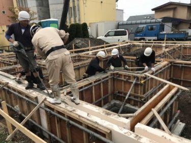 函館市花園町の新築断熱基礎工事