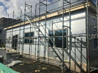 函館市駒場町の新築平屋建ての外壁外断熱工事