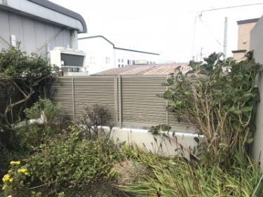 北斗市飯生で外構フェンス復旧工事