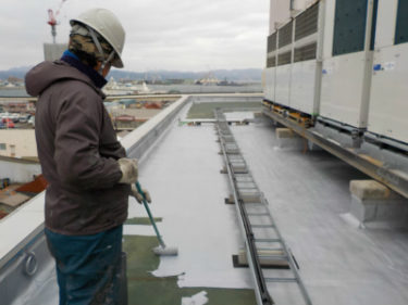 函館市 若松町 テナントビル屋上 アスファルト防水保護塗装工事