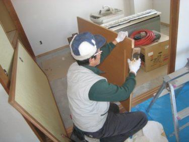 函館市大森町にある住宅の和室の建具廻りの修繕