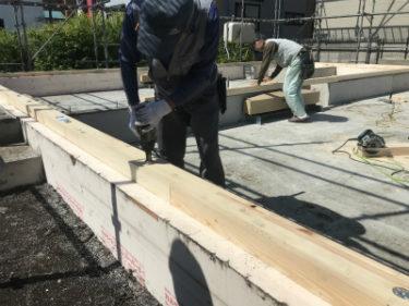 函館市駒場町の新築住宅平屋建ての木土台敷き基礎