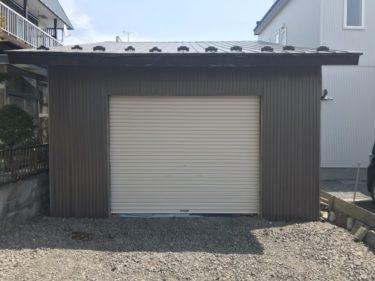 函館市美原の車庫シャッター設置工事
