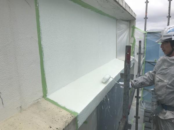 防水塗料の塗布