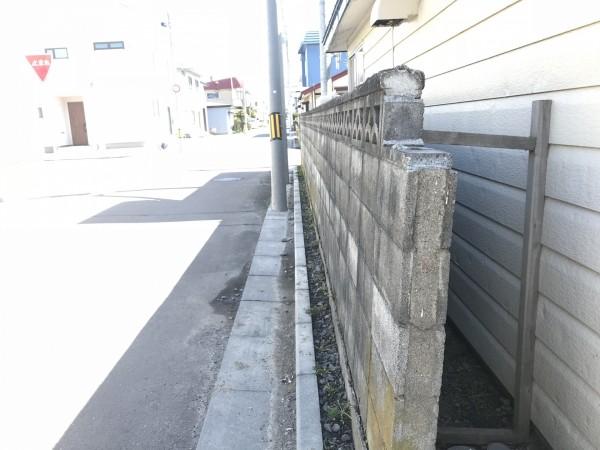 劣化したブロック塀