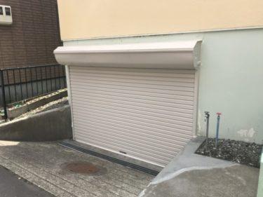 函館市中島町で電動シャッター取替・手摺設置・階段モルタル補修