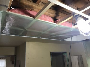 函館市日吉町の断熱改修リフォーム 壁断熱、天井断熱編