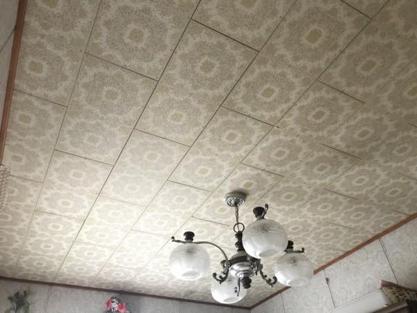 雨漏りで染みができた天井
