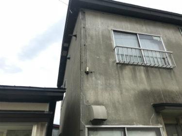 函館市大森町の空き家管理でモルタル外壁落下防止工事