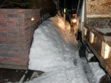 函館市 東山 雪捨て 雪投げ