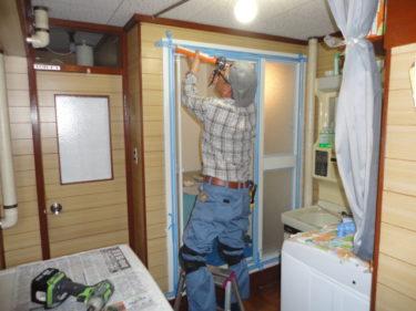 函館市宮前町で集合住宅のお風呂入口改修工事