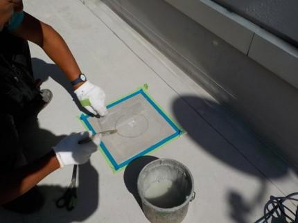 防水シートの補修