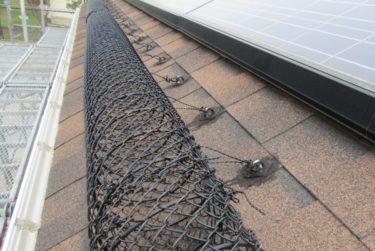 函館市美原の住宅で太陽光雪止めリング設置工事