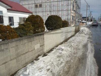 修繕が完了したブロック塀