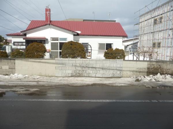 修繕したブロック塀