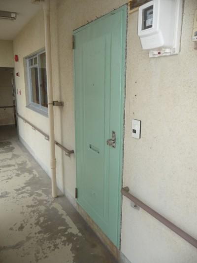 新しい玄関扉