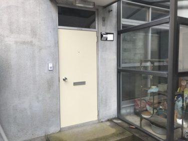 函館市高盛町の勝手口ドア交換工事