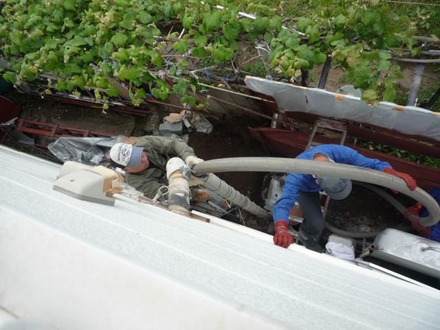 汚水管の高圧洗浄
