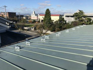 函館市美原で屋根雪止め設置工事