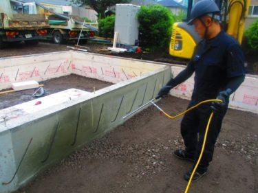 函館市駒場町の新築住宅平屋建ての土壌処理(防蟻処理)
