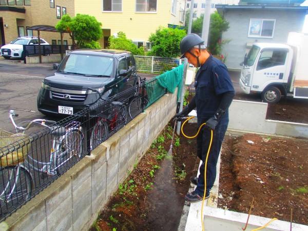 土壌処理(防蟻処理)