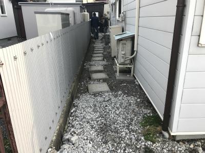工事前の外出の際の動線