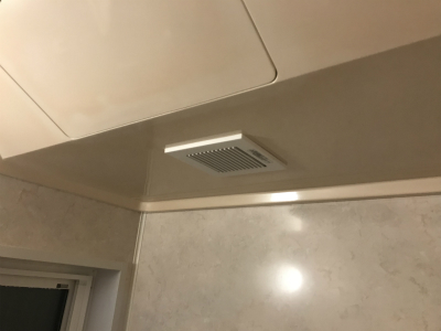 新しい換気扇設置完了