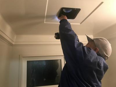 新しい換気扇を設置