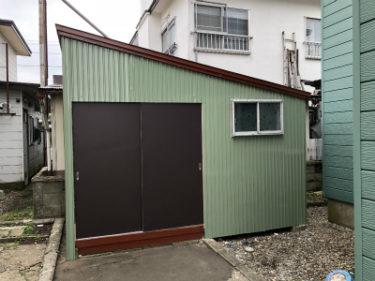 函館市高盛町の物置修繕工事