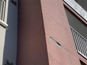 外壁落下修繕工事前