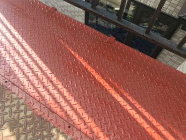 函館市亀田港町のアパート鉄骨階段修繕工事