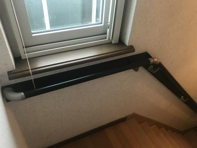手摺設置後の階段
