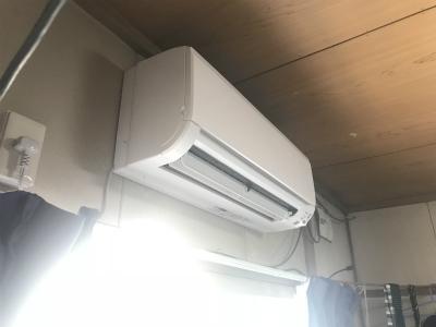 新しく設置したエアコン