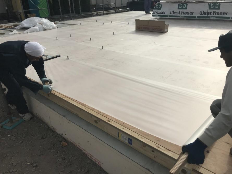 床材の養生