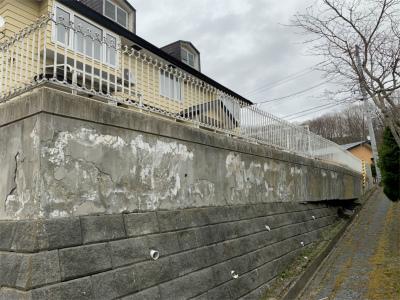 コンクリート塀改修工事前