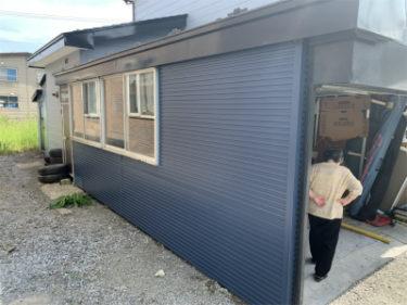 函館市港町の車庫外壁修繕工事
