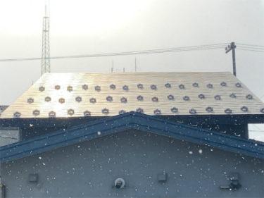 北斗市(函館市)中野通りで屋根雪止め設置工事
