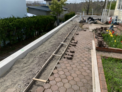 敷地の復旧作業