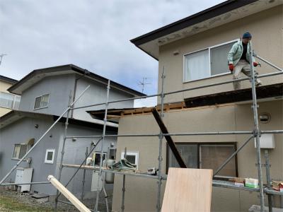 屋根破損部分の確認