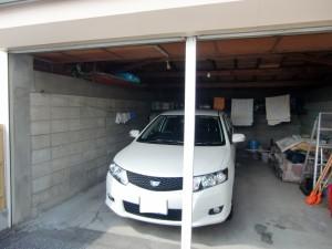 改築前の車庫内観