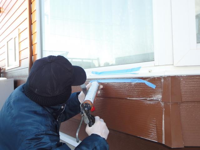 函館市 西桔梗町 車両事故 出窓屋根、外壁修繕