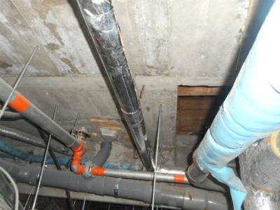 水漏れを修繕した配管