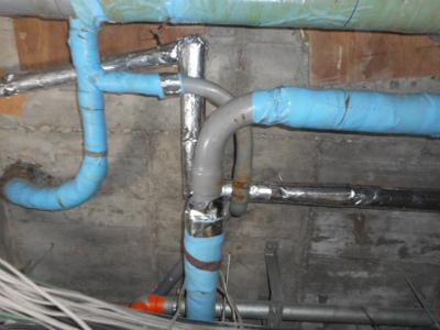 水漏れの修繕をした配管