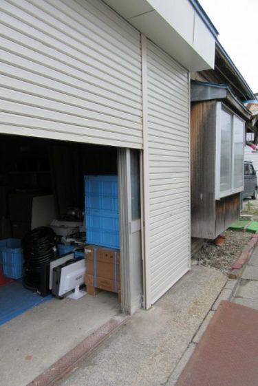 函館市千代台町でシャッター中柱腐れ撤去交換