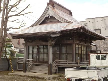 屋根葺替え前の金毘羅堂