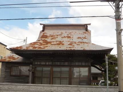 葺替え前の金毘羅堂