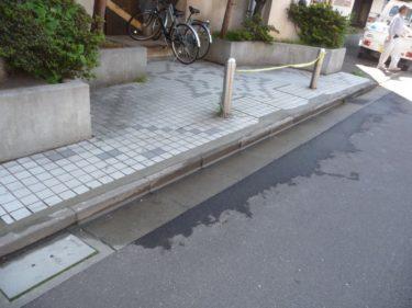 函館市本町のエントランス入口タイル床修理