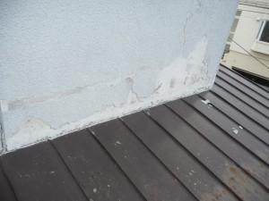 積雪による外壁劣化