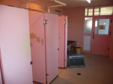 改修前の女子トイレ