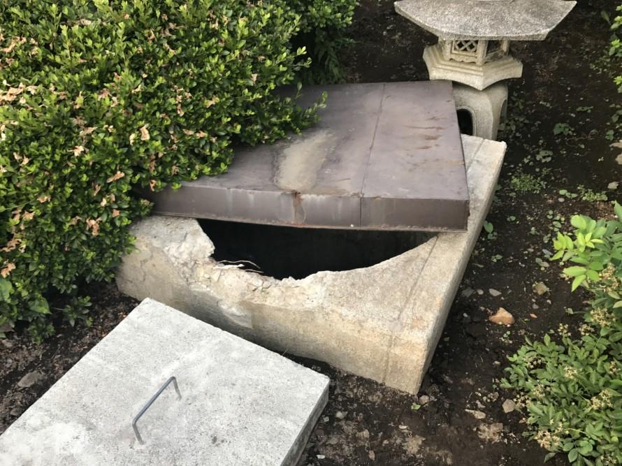 工事前の井戸の蓋